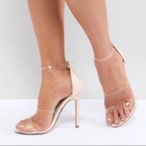 Shoes - Black heel with clear strap